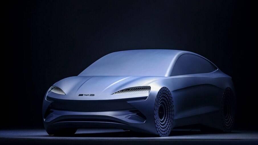 O Ocean-X, um carro conceito construído com base na e-Platform 3.0