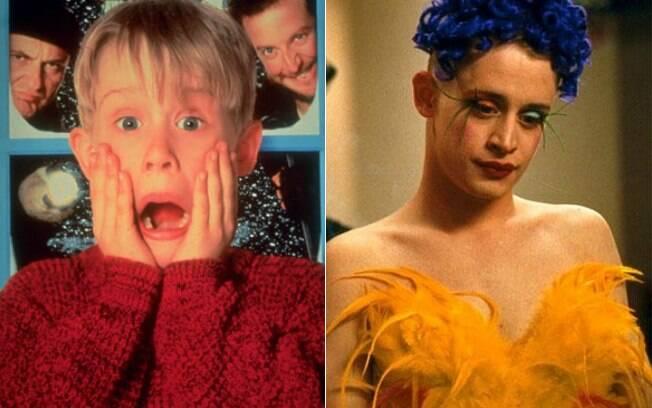 Antes e depois: Macaulay Cukin no pôster do filme