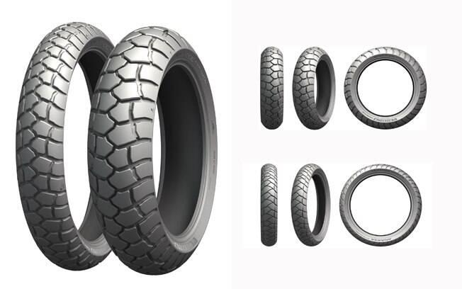 Os novos pneus Michelin Anakee Adventure, para a dianteira e a traseira da big trail