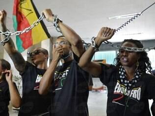 Manifestantes reivindicavam mais recursos para educação de negros e pobres