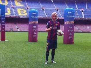 Jogador disputou a Copa do Mundo pela seleção croata e fechou contrato por cinco com o Barcelona