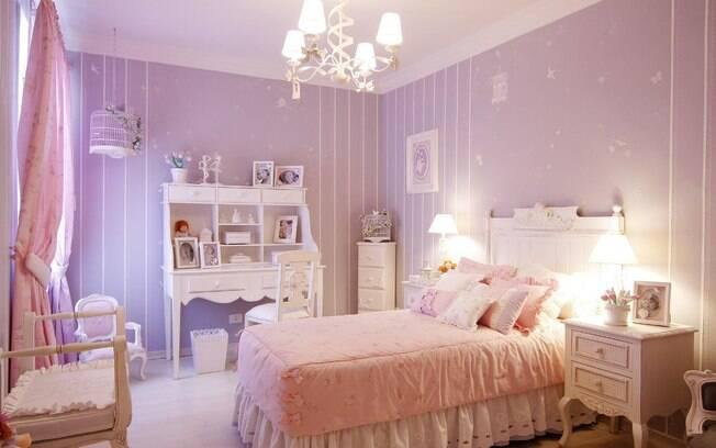90 ideias para decorar quartos de bebês e crianças  ~ Quarto Rosa Romantico