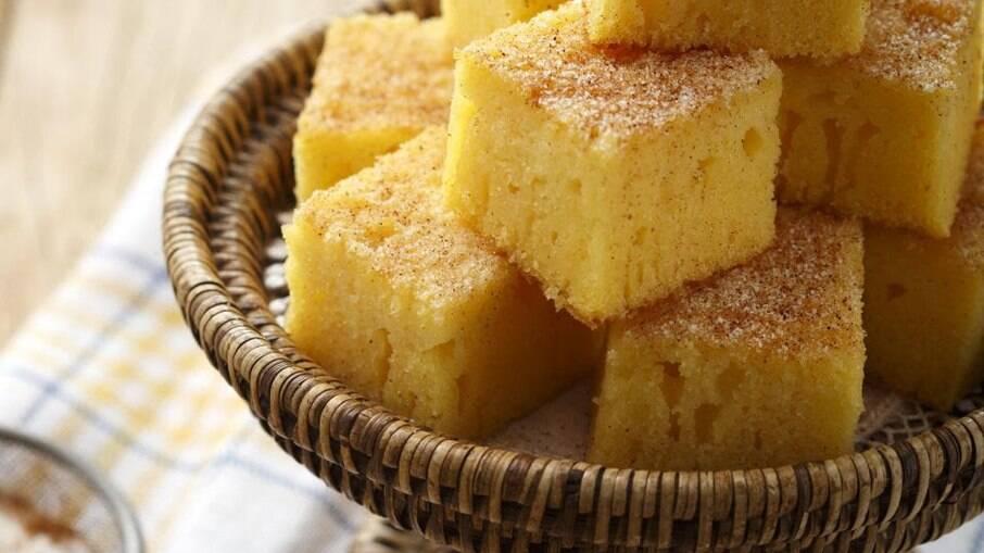 O bolo é simples de preparar