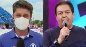 Repórter chama Faustão ao vivo em Olimpíada
