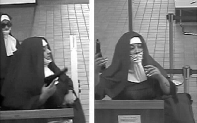 Vestindo trajes tradicionais de freiras, as duas mulheres invadiram um banco na cidade de Tannersville, nos Estados Unidos
