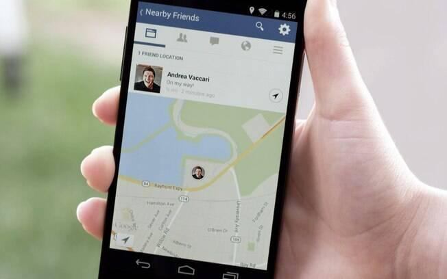 Novo recurso do Facebook, por enquanto só disponível nos EUA, usa o sistema de GPS do smartphone para mostrar os amigos próximos do usuário
