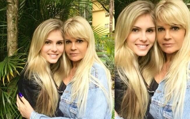 Bárbara e a mãe, Monique Evans