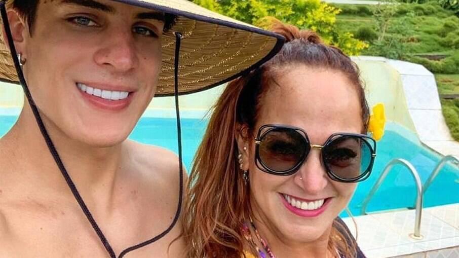 Tiago Ramos e Nadine Gonçalves, a mãe de Neymar