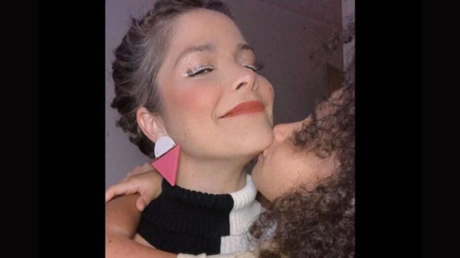 Samara Felippo e a filha Lara