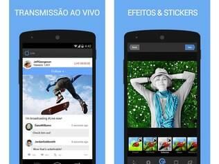 Disponível para Android, iOS e Windows Phone, aplicativo Mobli permite que o usuário faça a transmissão de eventos particulares, entre vários outros recursos