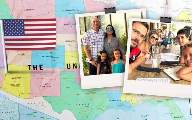 Vida nova para brasileiros: Guilherme Cerqueira (à esquerda) foi com a família para Atlanta. André Dayan (à direita) preferiu o interior