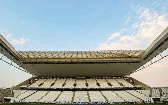 Arena Corinthians antes do jogo contra o Atlético-MG