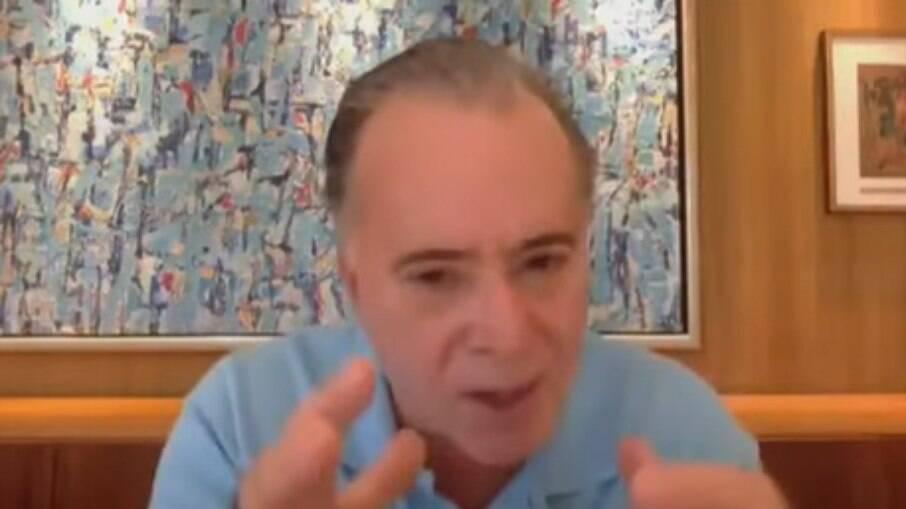 Tony Ramos se emociona ao falar de Tarcísio Meira, morto nesta quinta-feira (12)