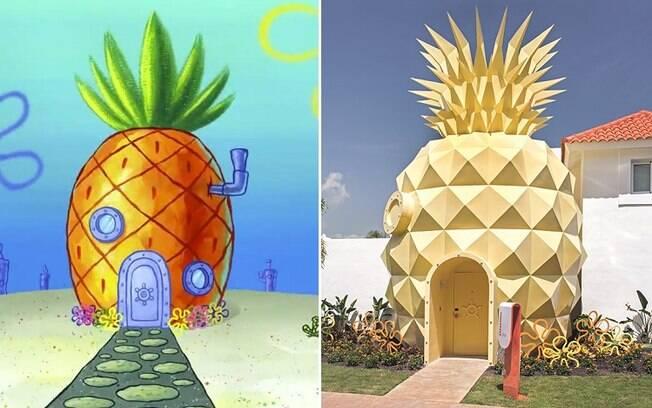 A casa fica em Punta Cana, na República Dominicana, e imita o abacaxi gigante onde vive o personagem Bob Esponja