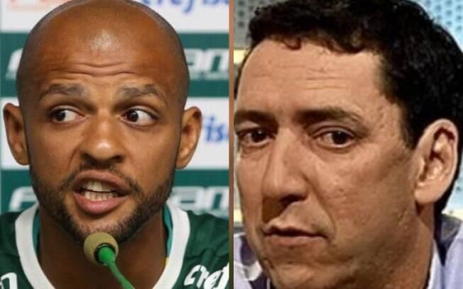 Felipe Melo e PVC discutiram ao vivo