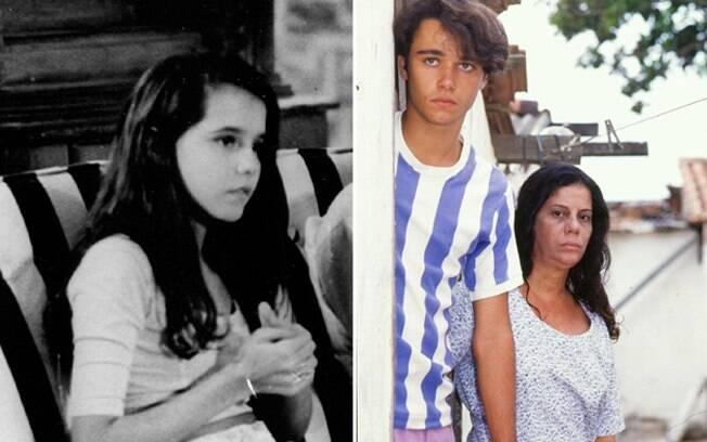 Deborah Secco aos 13 anos, e Ângelo Paes Leme (com Maria Gladys): início de carreira