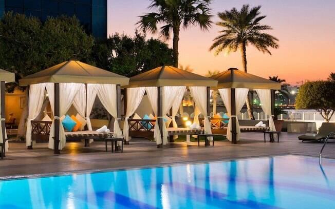 O Doha Marriott Hotel faz parte da lista de melhores hotéis no Catar, contando com uma gastronomia premiada