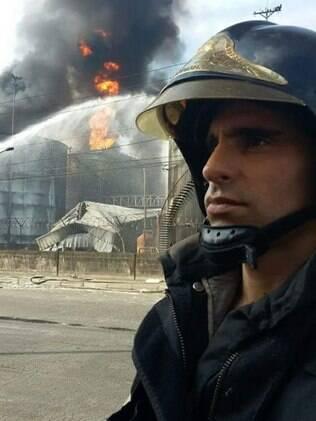 bombeiro encontrado após morrer em resgate no Guarujá