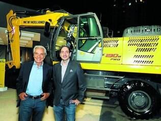 Parceiros.O diretor comercial da Bamaq, Max Rodrigues, e o vice-presidente da New Holland Construction para a América Latina, Nicola D'Arpino