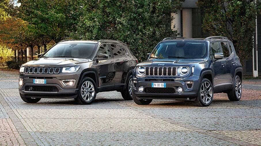 Jeep Renegade e Compass: versões 4xe podem marcar até 45 km/l na estrada
