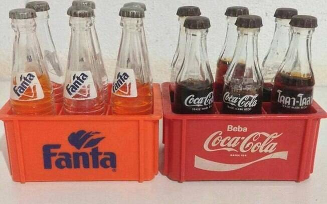 Mini engradados de refrigerante