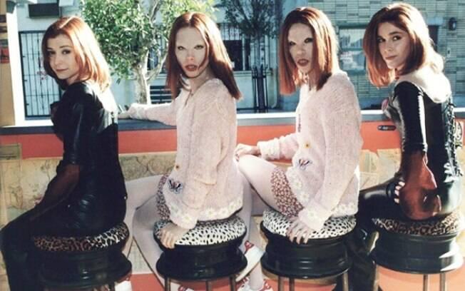 Alyson Hannigan e suas dublês em Buff, A Caça Vampiros