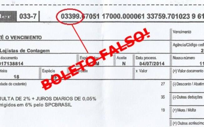 Uma das fraudes mais comuns é o código da instituição financeira não vir correto no boleto
