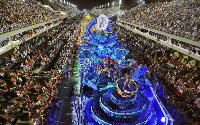 Sambódromo no carnaval carioca