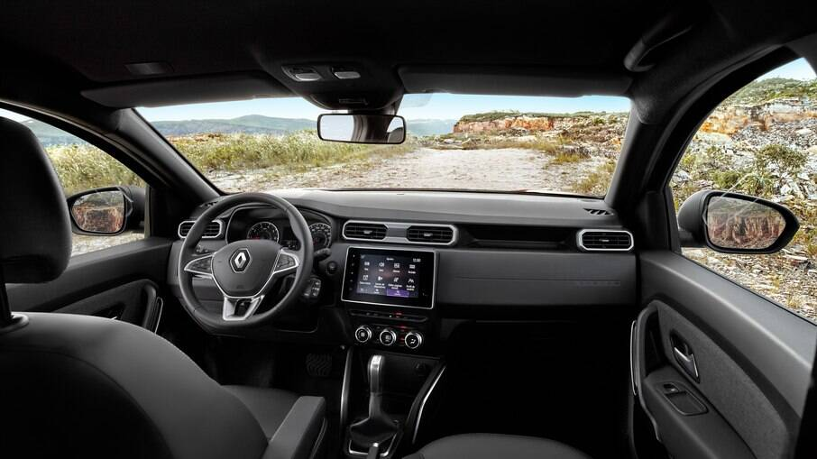 Interior do Renault Duster 2021, antecipando o que podemos esperar para a picape intermediária Oroch