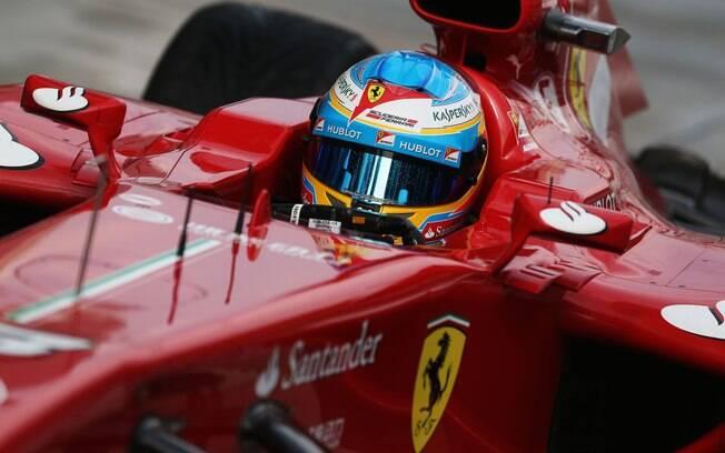 Fernando Alonso chegou a cravar a liderança,  mas viu Vettel e Massa o superarem com o  cronômetro zerado