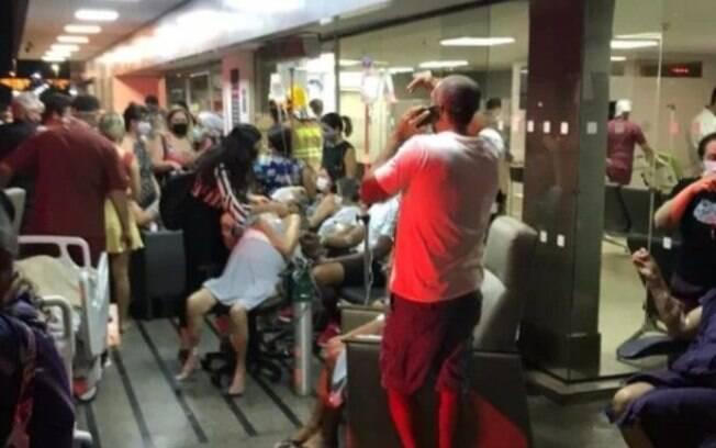 Cerca de 100 pacientes precisaram ser retirados do hospital na Asa Norte, em Brasil