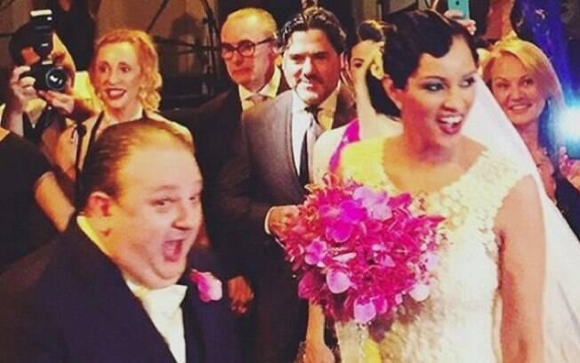 Erick Jacquin se casou no Jockey Club de São Paulo nessa sexta-feira (23)