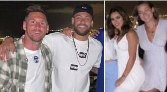Neymar leva nova affair Bruna Biancardi para jantar com Messi