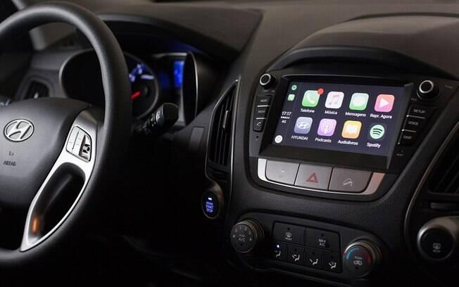 Nova tela da central multimídia no painel do Hyundai ix35 montado em Anápolis (GO) agora é novidade no SUV