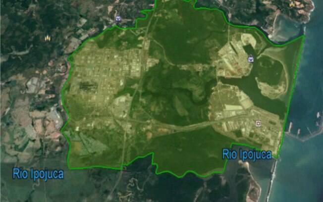 Mapa do território tradicional do quilombo