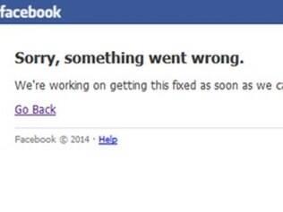 Página do Facebook está em manutenção.