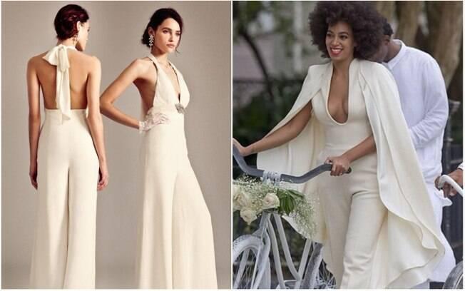 Costas nuas ou um decotão de respeito - como o do macacão que Solange Knowles, irmã de Beyoncé, usou após seu casamento - são indicações de Juliana para mulheres que querem ousar mais no dia da cerimônia