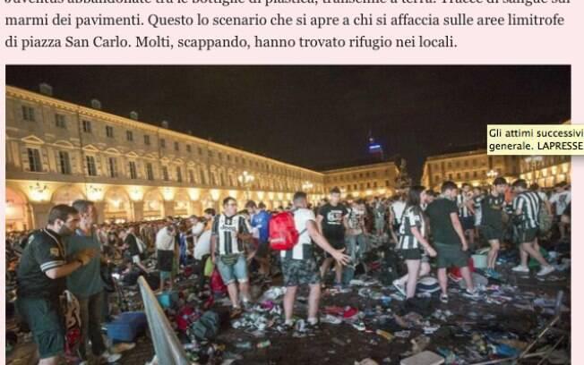 Jornal Gazzetta dello Sport dá detalhes da confusão em praça com torcedores da Juventus