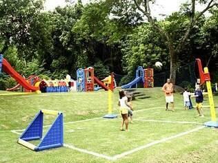 O Club Med Rio das Pedras oferece uma clínica de esporte infantil