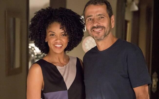 Gilda (Heloísa Jorge) e Amadeu (Marcos Palmeira)