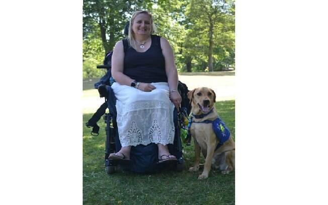 Wendy e seu Labrador Kevin