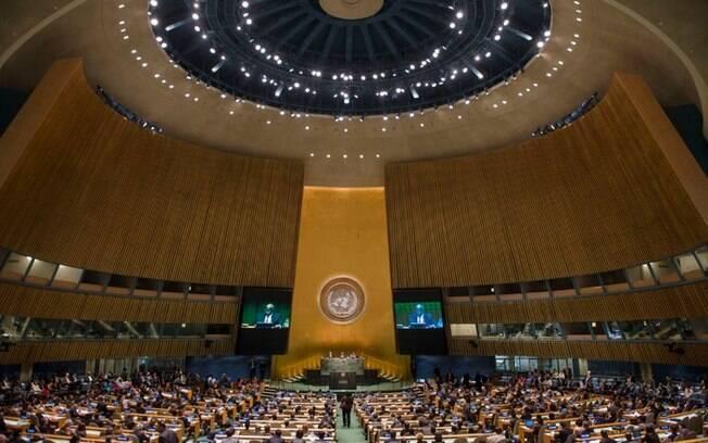 Sede da ONU em Nova York, onde acontece a Assembleia Geral de 24 de setembro a 1 de outubro de 2014