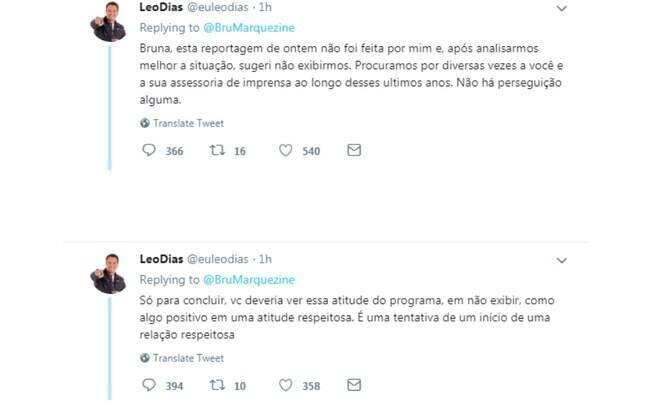 Leo Dias responde Bruna Marquezine