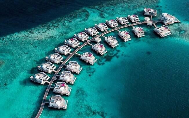 Hotel LUX* North Male Atoll Resort & Villas, onde Juliana Paes se hospedou nas Maldivas