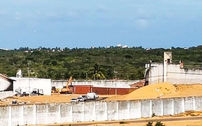 Em Alcaçuz, no Rio Grande do Norte, barreira de contêineres separou os presos durante a crise no início do ano