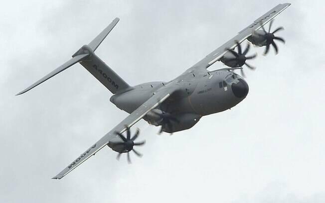 A aeronave Airbus A400m, modelo que caiu em Sevilha no sábado: maior propulsor do mundo