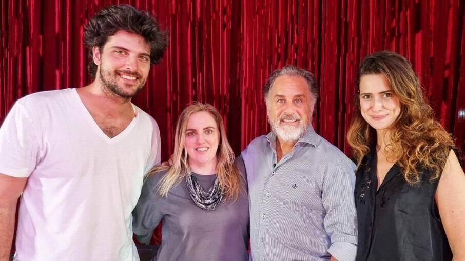 Rodrigo Frota, Renata Rode, Marcos Frota e Anna Carolina Guida