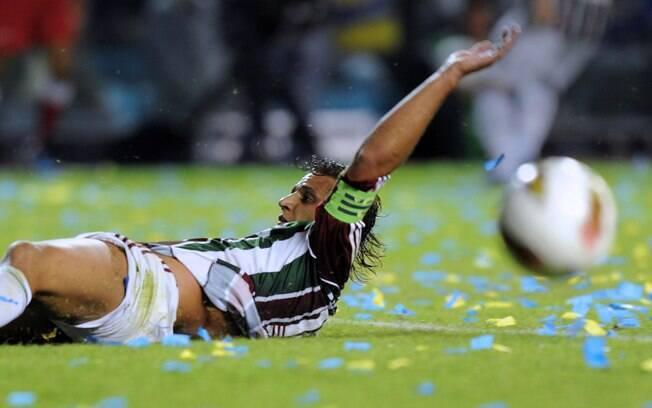 Com a ausência de Fred, Rafael Moura foi titular na final do Carioca em 2012, contra o Botafogo, e marcou o gol do título - de panturrilha esquerda