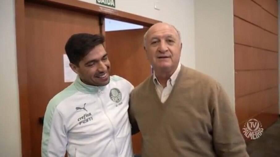 Abel recebe a visita de Felipão