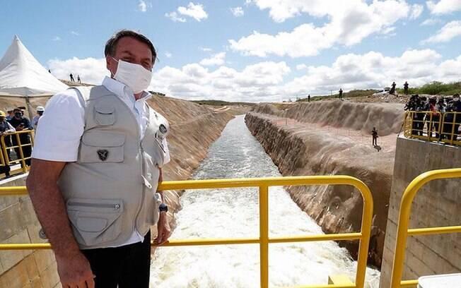 Bolsonaro inaugurou obras herdadas no Nordeste